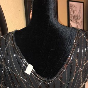 Forever 21 Dresses - NWT- Blk & Silver Sequins Gatsby Style Dress